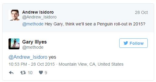 我們即將在2015年底前迎接下一次的企鵝演算法更新