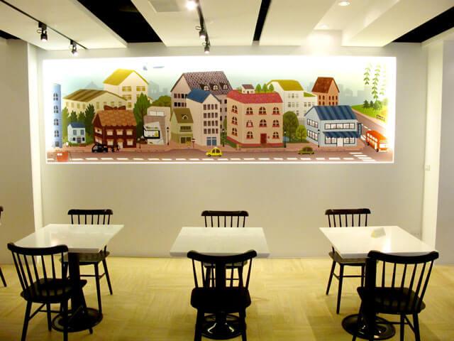 思默小鎮的壁畫-思默好時-台中咖啡館