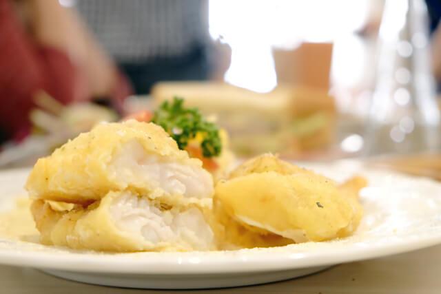 奶油起士英式炸魚義大利麵-2-Lazy sun Cafe
